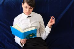Woman with notebook. close up Stock Photo