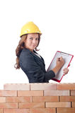 Woman with notepad Royalty Free Stock Photos