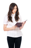Woman with notepad Royalty Free Stock Image