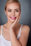 Woman with nourished perfect skin Stock Images