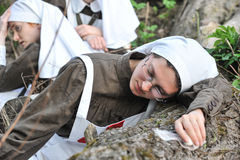 Woman in nurse uniform of the Russian army during the First Worl Stock Photography
