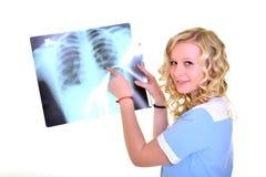 Woman nurse working Royalty Free Stock Photos