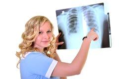 Woman nurse working Royalty Free Stock Image