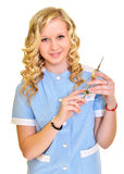Woman nurse working Royalty Free Stock Photography