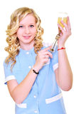 Woman nurse working Stock Photo