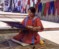 Woman from Oaxaca. A young woman from oaxaca with the  traditional loom waist
