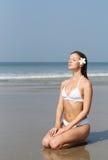 Woman and ocean Stock Photos