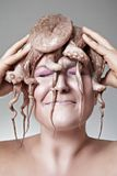Woman with octopus Stock Photography