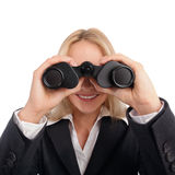 Woman with ocular Royalty Free Stock Photo