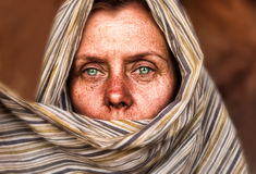 Woman Of The Desert Stock Image