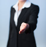 Woman offering a handshake Royalty Free Stock Photo