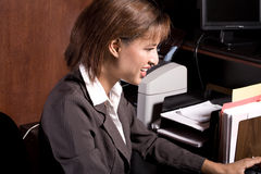 Woman in the office Royalty Free Stock Images