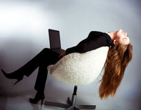 The woman in the office Royalty Free Stock Photo
