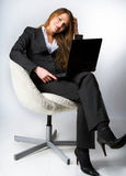 The woman in the office Stock Photography