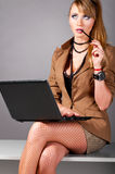 Woman at office Royalty Free Stock Photos