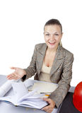 Woman in office Royalty Free Stock Photography