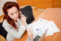 Woman at the office Stock Photo