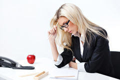 Woman at the office Stock Image