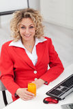 Woman in the office Royalty Free Stock Photos
