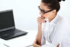 Woman at the office Stock Photography