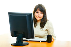 Woman in office Royalty Free Stock Images
