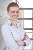 Woman in office Stock Image