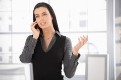 Woman on office call Stock Image