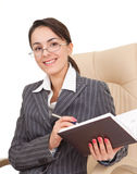 Woman in the office dress Stock Photo