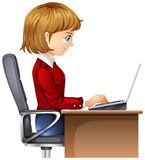 A woman in the office Royalty Free Stock Photography