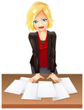 A woman in the office Royalty Free Stock Photo