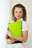 Woman office portrait. Young woman portrait in the office during a break Royalty Free Stock Photography