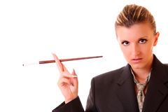 Woman in office suit Stock Photos