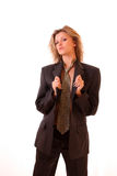 Woman in office suit Stock Image