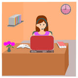 Woman office work Royalty Free Stock Photos