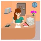 Woman office work Stock Photos
