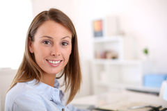 Woman office worker royalty free stock photo