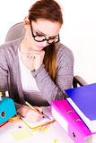 Woman in office working Royalty Free Stock Image