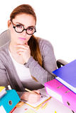 Woman in office working Stock Image