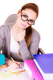 Woman in office working Stock Photos
