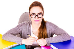 Woman in office working Royalty Free Stock Photo