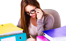 Woman in office working Stock Images