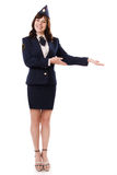 A woman officer Stock Image