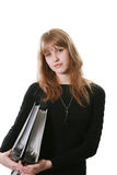 Woman with official papers Royalty Free Stock Photo