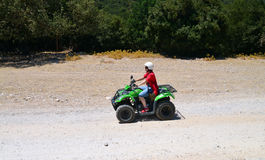 Woman offroad trip Royalty Free Stock Images
