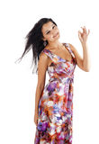 Woman with ok gesture Royalty Free Stock Image