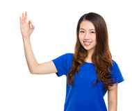 Woman with ok sign Stock Photo