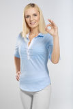 Woman with okay gesture Royalty Free Stock Photo