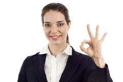 Woman with Okay Sign Stock Image