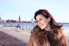 The woman in old city. Royalty Free Stock Photos