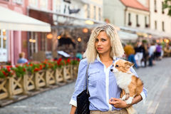 Woman in old city. Stock Photography